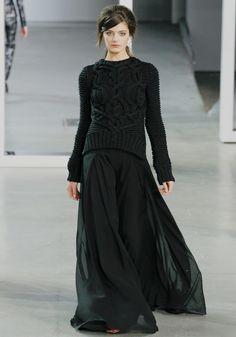 Derek Lam FW , I just love that the runways are so dark right now!!