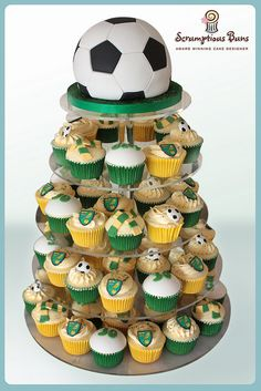 NCFC Football Cupcake Tower | Flickr: Intercambio de fotos