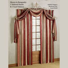 window valances | Home Window Curtains and Drapes New Traditional Curtains