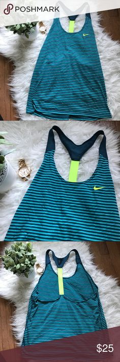 FINAL PRICE Nike Just Do It Racerback Super cute Nike racerback Tank Top! Size small. Shirt is slightly textured from washing. Nike Tops Tank Tops