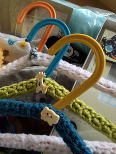 Pretty Crochet hangers for babies clothes or for your special shirts that slip off the hanger