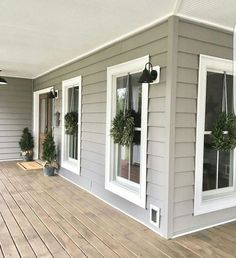 interior:Modern Trends Farmhouse Exterior Paint Colors Ideas Color For Stucco Homes Mid Century Small House Mobile Ranch Style Pictures Exterior Paint Color Ideas Farmhouse Front Porches, Modern Farmhouse Exterior, Rustic Farmhouse, Farmhouse Ideas, Farmhouse Landscaping, Farmhouse Windows, Farmhouse Trim, Farmhouse Remodel, Farmhouse Architecture
