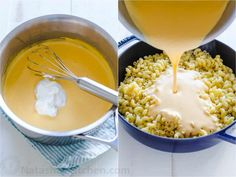 A homemade Mac and Cheese Recipe that children eat (and love)! The ultra creamy cheese sauce is so easy to whip up and you can use a variety of pasta. You'll make this macaroni and cheese over and over. Cheese Roux Recipe, Velveta Cheese Sauce, Mac And Cheese Roux, Velveeta Macaroni And Cheese, Homemade Mac And Cheese Recipe Easy, Mac And Cheese Sauce, How To Make Cheese Sauce, Baked Mac And Cheese Recipe