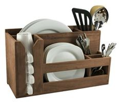 Good for an outdoor table or an RV - instead of carting the dishes out for every meal!