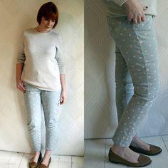 Diy Polka Dot Jeans #howto #tutorial