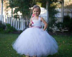 Ivory Flower Girl Wedding Tutu Dress Customizable