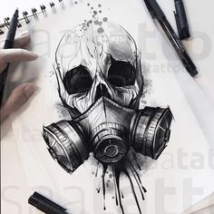 NO COPIE Chernobyl chernobyl tattoodrawing tattoosketch che NO COPIE Chernobyl chernobyl tattoodrawing tattoosketch che chernobyl copy not tattoodrawing tattoosketch tschernobyl Tattoo Design Drawings, Skull Tattoo Design, Skull Tattoos, Body Art Tattoos, Tattoo Designs, Evil Skull Tattoo, Tattoo Ideas, Monkey Tattoos, Hand Tattoos