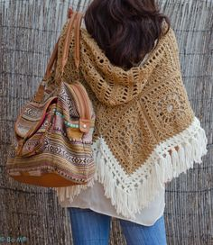 crochet poncho with hood
