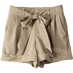 【ELLE SHOP】チノショートパンツベージュ カイラニ(Kai Lani) ファッション通販 エル・ショップ (5,650 THB) found on Polyvore