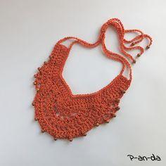 ожерелье крючком, схема ожерелья, free necklace pattern, колье крючком, схема колье, бесплатное описание колье