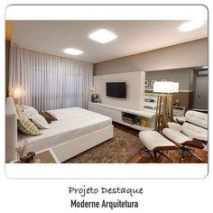 """""""Quarto bonito, leve e confortável. Iluminação led embutida na calha de gesso contorna o quarto.  @arquiteturade❤️. #arquiteturadecoracao #arquitetura…"""""""