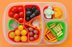 """100th Day of schoo packed lunch for kids! 10 bites of 10 different things! So cute! She also sent a 100 calorie pack of snack food for snack and relabeled it """"!00th Day of school snack"""""""