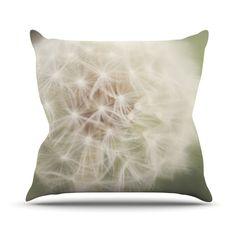 """Catherine McDonald """"Dandelion"""" Outdoor Throw Pillow"""