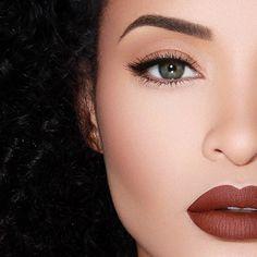 """Lip is #Salem from @limecrimemakeup on @blairangela brow wiz from @anastasiabeverlyhills in soft brown"" Photo taken by @rennyvasquez on Instagram, pinned via the InstaPin iOS App! http://www.instapinapp.com (01/19/2015)"