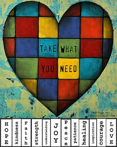 """Take What You Need""   Free Printable pdf here!    Spread some kindness..."