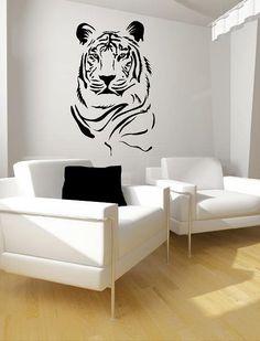 Tiger Portrait Vinyl Lettering  animal Decal by itswritteninvinyl, $44.00