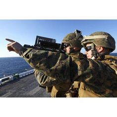 US Marines practice firing a simulated FIM-92C Stinger Missile Canvas Art - Stocktrek Images (34 x 23)