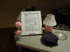 Great bar menu and decoration