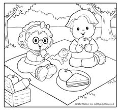 Little People® Coloring Pages! Sweet summertime themes for kids to choose from.
