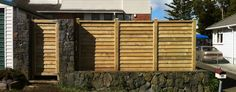 horizontal paling fence - Google Search