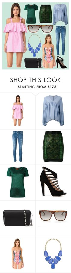 """""""Sunday Special Offers"""" by cate-jennifer ❤ liked on Polyvore featuring MLM, Dondup, Balmain, Missoni, Chloe Gosselin, Paco Rabanne, Yves Saint Laurent, Mara Hoffman and Kendra Scott"""