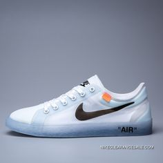 Off-White X Nike Blazer Low 2018 Ventilate Net Unisex Skateboard Shoes White  Clear Blue Black Top Deals c89845f86