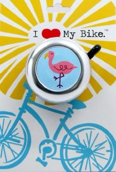 Flamingo Bike Bell by BeachyToes on Etsy https://www.etsy.com/listing/161488657/flamingo-bike-bell