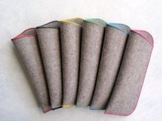 Felt Crafts, Diy And Crafts, Glasses Case, Couture, Sewing Techniques, Eyewear, Sewing Projects, Pouch, Etsy