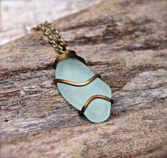 Sea Glass Jewelry from Hawaii  Aqua Blue by MermaidTearsDesigns, $50.00