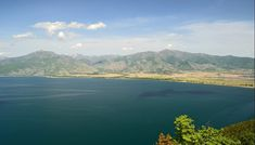 The two lakes of Megali Prespa and Mikri Prespa is an area of incredible beauty and has not been discovered by tourists yet. Big Lake, Great Names, Information Center, Stone Houses, Small Island, Macedonia, Albania, Fishing Boats, Outdoor Pool