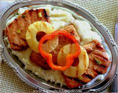 Beer BBQ Grilled Pork Chops: simple marinade, grill with pineapple and red pepper rings, lots of flavor. A quick and easy dinner | Recipe developed by www.BakingInATornado.com | #recipe #dinner