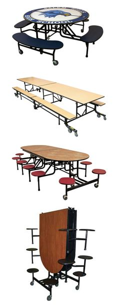 Palmer-Hamilton Mobile Cafeteria Tables: The Palmer Hamilton line of cafeteria tables is a quality, diverse mobile table product line that will meet virtually any cafeteria need you may have. - Iowa Prison Industries