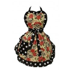 Skulls and Roses Apron god this is so prettyy <3
