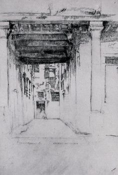 James Abbott McNeill Whistler in Venice James Abbott Mcneill Whistler, Venice Painting, Street Pictures, Building Drawing, Etching Prints, Art And Craft Design, Landscape Drawings, Art For Art Sake, American Artists