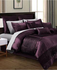 Hallmart Collectibles Kellen King Comforter Set - Bed in a Bag - Bed & Bath - Macy's Plum Bedding, Purple Comforter, Purple Bedding Sets, Cheap Bedding Sets, Luxury Comforter Sets, King Comforter Sets, Queen Bedding Sets, Cheap Bed Sheets, Bed Sets