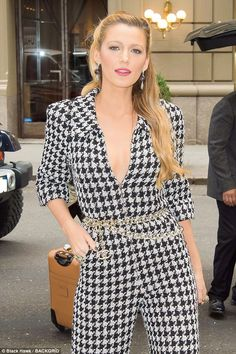 Blake Lively shines bright in FIVE head-turning outfits | Daily Mail Online
