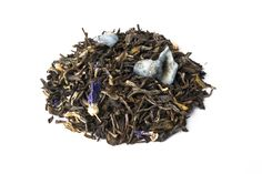Tè bianco cinese, foglie di violette candite, fiori di malva, aroma di violetta.