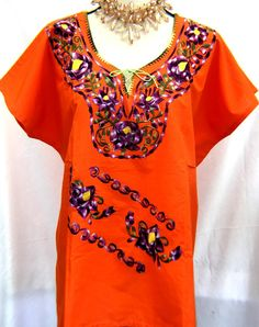 Mexican Clothing Co Girls Mexican Blouse 3-4 Sleeve Traditional San Antonino Poplin