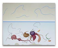 2001- Prima dell'orizzonte, acrilici su tela, cm  40x50
