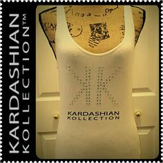 Kardashian Kollection Tank Top Embellished Kardashian Tank Top in Comfy Cotton, Off White Shade,  Mint Condition Kardashian Kollection Tops Tank Tops