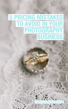 5 Pricing Mistakes to AVOID in Your Photography Business--> And bonus e-Book!! Determining what to charge for your services and products as a wedding and portrait photographer isn't easy… actually, it can be down-right overwhelming.