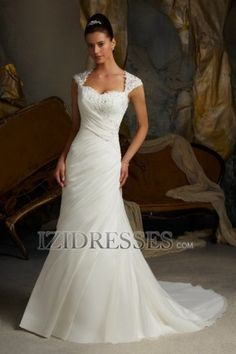 Sheath/Column Off-the-shoulder Sweetheart Chiffon Wedding Dress - IZIDRESSES.COM at IZIDRESSES.com