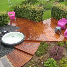 Ta pravá vířivka na Vaši terasu. Zabudujeme ji do designu Vaší zahrady. #softub #terasy #virivky #mobilnivirivky www.softub-spa.cz