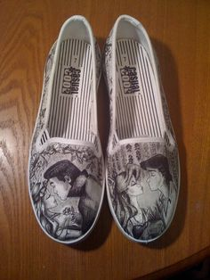 Sleeping Beauty and Little Mermaid Custom Made Shoes. $200.00, via Etsy. i need a pair of these