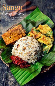 sangu tutug oncom (indonesian food)
