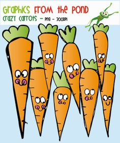 Crazy Carrots Clipart