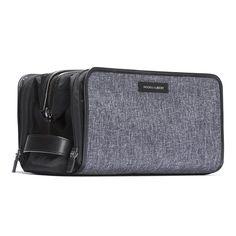 Black & Gray Travel Dopp Kit - HOOK & ALBERT