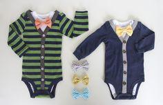 Dress your little man up in a dapper onesie.