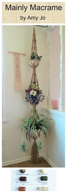 If you really want a vintage look in your home, you need to have a jute macrame palnt holder. This is a plant hanger that will hold 3 plants. 3 tier Jute macrame plant hanger, large triple hanging planter, Extra Long pot holder, Beaded hanging basket, Long Vintage Retro 70s, garden gift