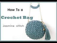 Crochet Bag Tutorials, Crochet Videos, Crochet For Beginners, Diy Crochet, Crochet Projects, Sewing Tutorials, Crochet Stitches Patterns, Bag Patterns To Sew, Sewing Patterns